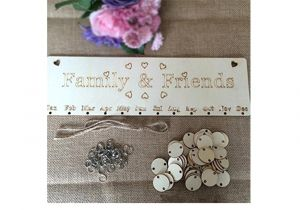 Unfinished Wooden Advent Calendar Canada Diy Wooden Birthday Wall Calendar Family Friends Special Dates
