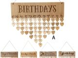 Unfinished Wooden Advent Calendar Diy Fashion Wooden Birthday Calendar Family Friends Sign Special