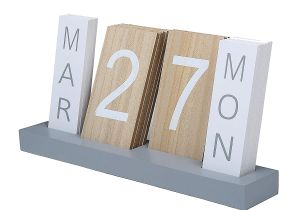 Unfinished Wooden Advent Calendar Drawers Amazon Com Wood Block Perpetual Month Date Day Tile Calendar