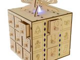 Unfinished Wooden Advent Calendar Multi Led Light Up Gift Box Drawers Wooden Advent Calendar