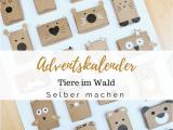 Unfinished Wooden Advent Calendar Schau Tiere Im Wald A Einen Schlichten Adventskalender Fur Kinder