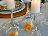 Upside Down Wine Glass Centerpiece Upside Down Wine Glass Wedding Centerpiece Easy Wedding Diy