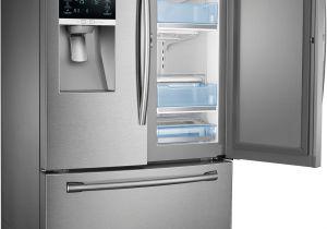 Used Black Counter Depth Refrigerator Samsung 23 Cu Ft Counter Depth 3 Door Food Showcase Refrigerator