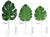 Used Fake Palm Trees for Sale 10 Pcs Large Green Artificial Fake Monstera Palm Tree Leaves Para