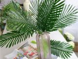 Used Fake Palm Trees for Sale Large Artificial Fake Palm Tree Leaves Green Plastic Leaf for Diy