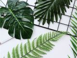 Used Fake Palm Trees for Sale Wedding Favors 5 10 Pcs Large Artificial Fake Monstera Palm Tree