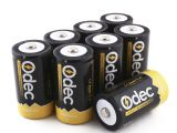 Various Types Of Rechargeable Batteries Amazon Com Odec D Cell Rechargeable Batteries 8 Pack 10000mah Deep