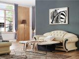 Versace Living Room Set Beige Versace Leather sofa Versace Beige sofa Esf Furniture