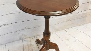 Vintage Ethan Allen Side Table Vintage Queen Anne Style Ethan Allen Cherry Round Pedestal
