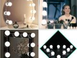 Voltage Makeup Vanity with Mirror Hollywood Vanity Mirror Light Kit Fashion Make Up Light Dimmable