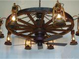 Wagon Wheel Ceiling Fan Light Dxww037 60 8 Fan 1 Tier Wooden Wagon Wheel Chandelier W