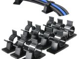Wall Mounted Shoe Shine Stand 10pcs Black Adhesive Cord Wire Cable Clips Ties organizers Wall
