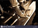 Wall Mounted Shoe Shine Stand Shoe Laces Old Stock Photos Shoe Laces Old Stock Images Alamy