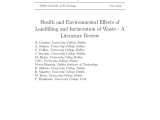 Waste Management Eau Claire Pdf Health and Environmental Effects Of Landfilling and