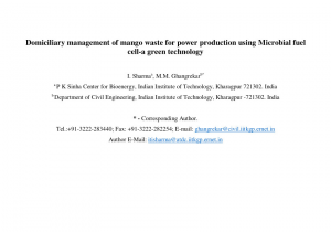 Waste Management Erie Pa Holiday Schedule Pdf Domiciliary Management Of Mango Waste for Power Production