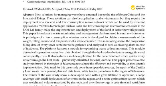Waste Management Navarre Florida Pdf Integration Of Autonomous Wireless Sensor Networks In Academic