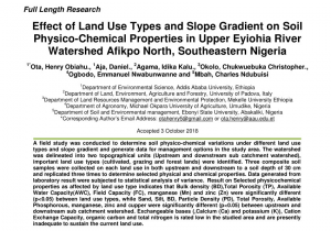 Waste Management Navarre Florida Pdf Vegetation and Land Use Effects On soil Properties and Water