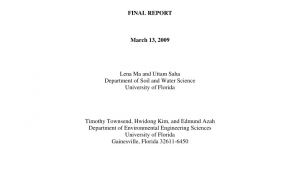 Waste Management Ocala Fl Pdf Chemical Characteristics Of Yard Waste In Florida