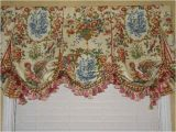 Waverly French Country Curtains Custom Valance French Country Waverly toile Balloon Window