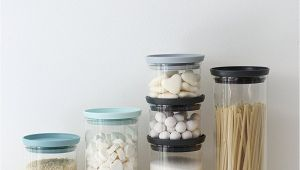 Weck Jars with Wooden Lids Uk Amazon Com Brabantia Stackable Glass Food Storage Containers Set