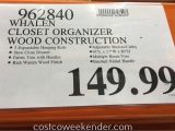 Whalen Closet organizer Costco assembly Whalen Closet organizer Costco Weekender