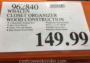 Whalen Closet organizer Costco Whalen Closet organizer Costco Weekender