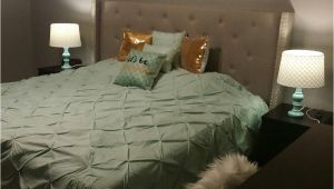 What Color Furniture Goes with A Grey Headboard Mint Gold and Grey Bedroom Blended Neutral Black and White Into