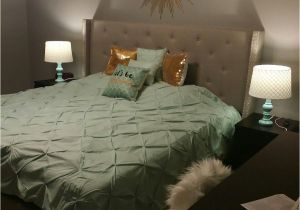 What Color Furniture Goes with Grey Headboard Mint Gold and Grey Bedroom Blended Neutral Black and White Into