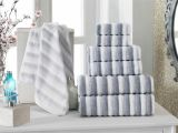 What is A Bath Sheet Vs Bath towel Turkish Cotton Jacquard Bath towels Enchante Home Pinterest