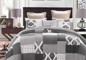 What is the Difference Between A Coverlet and A Quilt Dada Bedding Classical Shades Of Grey Reversible Cotton Real