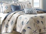 What is the Difference Between A Coverlet Quilt and Bedspread Nantucket Coastal Seashell 6 Pc Coverlet Bed Set Everything S Just