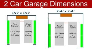 What is the Size Of A Two Car Garage Ideal 2 Car Garage Dimensions Youtube