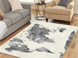 What Size Round Rug for 60 Inch Round Table Amazon Com Interestprint Grey World Map area Rug Floor Mat 7 X 5