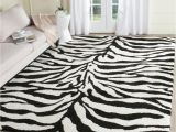 What Size Rug Should Go Under A 60 Inch Round Table Safavieh Florida Shag Ivory Black 5 Ft X 8 Ft area Rug Sg452 1290