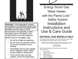 Whirlpool Energy Smart Electric Water Heater Troubleshooting Installation Instructions and Energy Smart Gas Water Heater