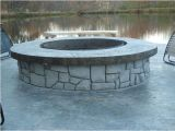 Will A Fire Pit Damage Concrete Concrete Fire Pit with Vertical Carved Stonework Hometalk