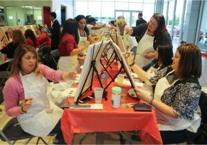 Wine and Canvas Merrillville Team toyota 39 S 39 Go Red 39 event Raises Heart Health Awareness