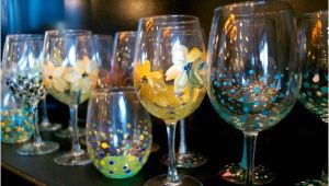 Wine and Paint Columbus Glassware Painting Studio 614