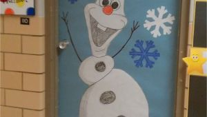 Winter Door Decorations for Classroom Door Winter Door Decoration I Love Olaf Kindergarten Pinterest