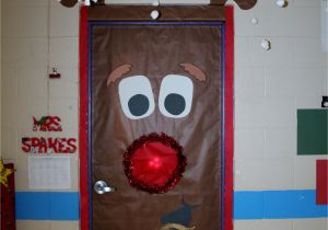 Winter Door Decorations for Elementary School Fouke Kindergarten Rudolph Classroom Door Work Chris