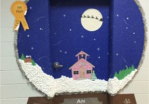 Winter Door Decorations for Elementary School Snow Globe Classroom Door Decoration Idea Crafts Chris