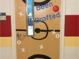 Winter Door Ideas for School for A Basketball themed Classroom Basketball Decorations Sports