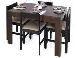Wood Pedestal Table Base Kits Canada forzza Peter Four Seater Rectangular Dining Table Set Wenge