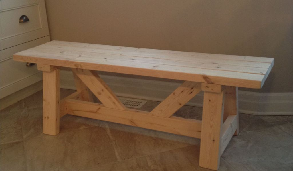 Wood Trestle Table Base Kits Farmhouse Bench In 1 Day Do It Yourself