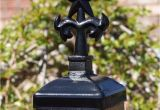Wrought Iron Fence Post toppers Wrought Iron Star with Palm Trees Post Cap 4×4 Wood Fence