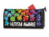 Yard Designs by Magnet Works Two Can Art Autism Mailbox Cover From Studio M All Proceeds Go to