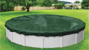 Yard Guard Pool Cover Dura Guard 15 Ft Pool Size Round Green solid Winter Above Ground