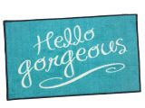 You Better Have Tacos Doormat Amazon Com Hello Gorgeous Welcome Door Mat Teal 2×3 Garden